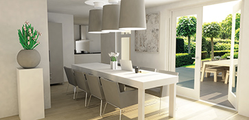 3D visual visualization interior home house building render