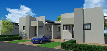 3D visual visualization exterior house residential building render